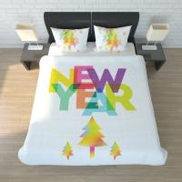 Постельное белье 2-спальное (стандарт) Newtone сатин New Year
