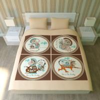 Постельное белье 2-спальное (евро) Newtone сатин Обезьяны (с наволочками 50x70)