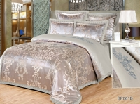 Постельное белье 2-спальное (евро) Silk Place Donkante сатин-жаккард SP-61B (4 наволочки)