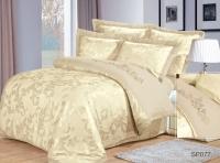Постельное белье 2-спальное (стандарт) Silk Place сатин-жаккард SP-77 (4 наволочки)