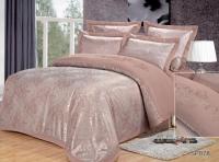 Постельное белье 2-спальное (евро) Silk Place сатин-жаккард SP-78 (4 наволочки)