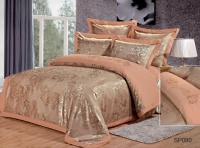 Постельное белье 2-спальное (евро) Silk Place сатин-жаккард SP-80 (4 наволочки)