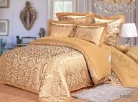 Постельное белье 2-спальное (евро) Silk Place сатин-жаккард SP-82 (4 наволочки)