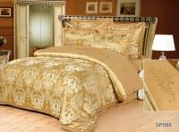 Постельное белье 2-спальное (евро) Silk Place Tintento сатин-жаккард SP-88 (4 наволочки)