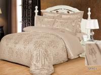 Постельное белье 2-спальное (евро) Silk Place Danvella жаккард SP101 (4 наволочки)