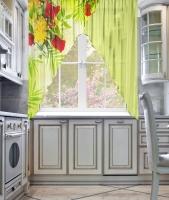 Фототюль угловая для кухни Новый стиль Пралине