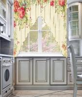 Фототюль угловая для кухни Новый стиль Форте