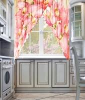 Фототюль угловая для кухни Новый стиль Шардоне