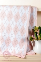 Плед детский Luxberry Imperio 252 pink/white/beige размер 75x100