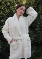 Халат женский короткий шерстяной Magic Wool Эскимо размер 56