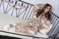 Халат женский шерстяной Magic Wool Кантри Светлый размер 54