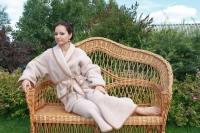 Халат женский шерстяной Magic Wool Лама размер 46