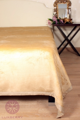 Плед шелковый Luxberry silk beige размер 150x220