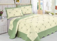 Покрывало Patchwork Silk Place Royalux 230x250 22-001C салатовый