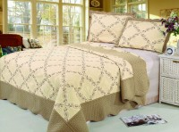 Покрывало Patchwork Silk Place Royalux 230x250 22-004A кофейный