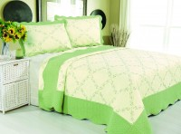 Покрывало Patchwork Silk Place Royalux 230x250 22-004C салатовый